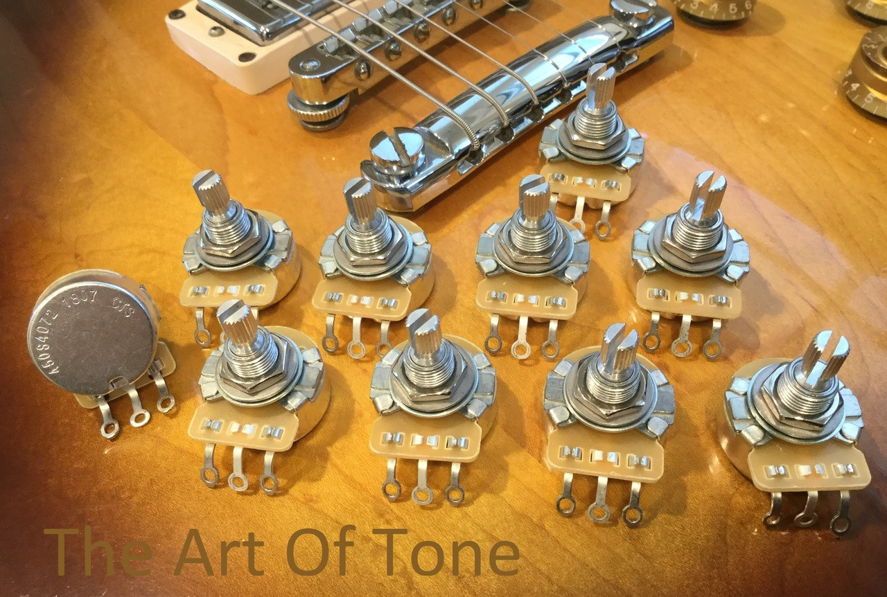CTS 450S 500K Split Shaft Audio Potentiometer The Art Of Tone - TAOT Antonio Johnson Photography