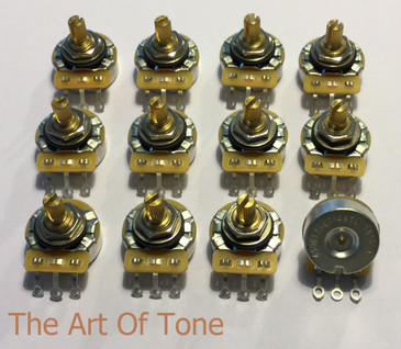 CTS 450G 250K Short Split Shaft Low Friction Audio Taper Pot - 10% Tolerance The Art Of Tone TAOT