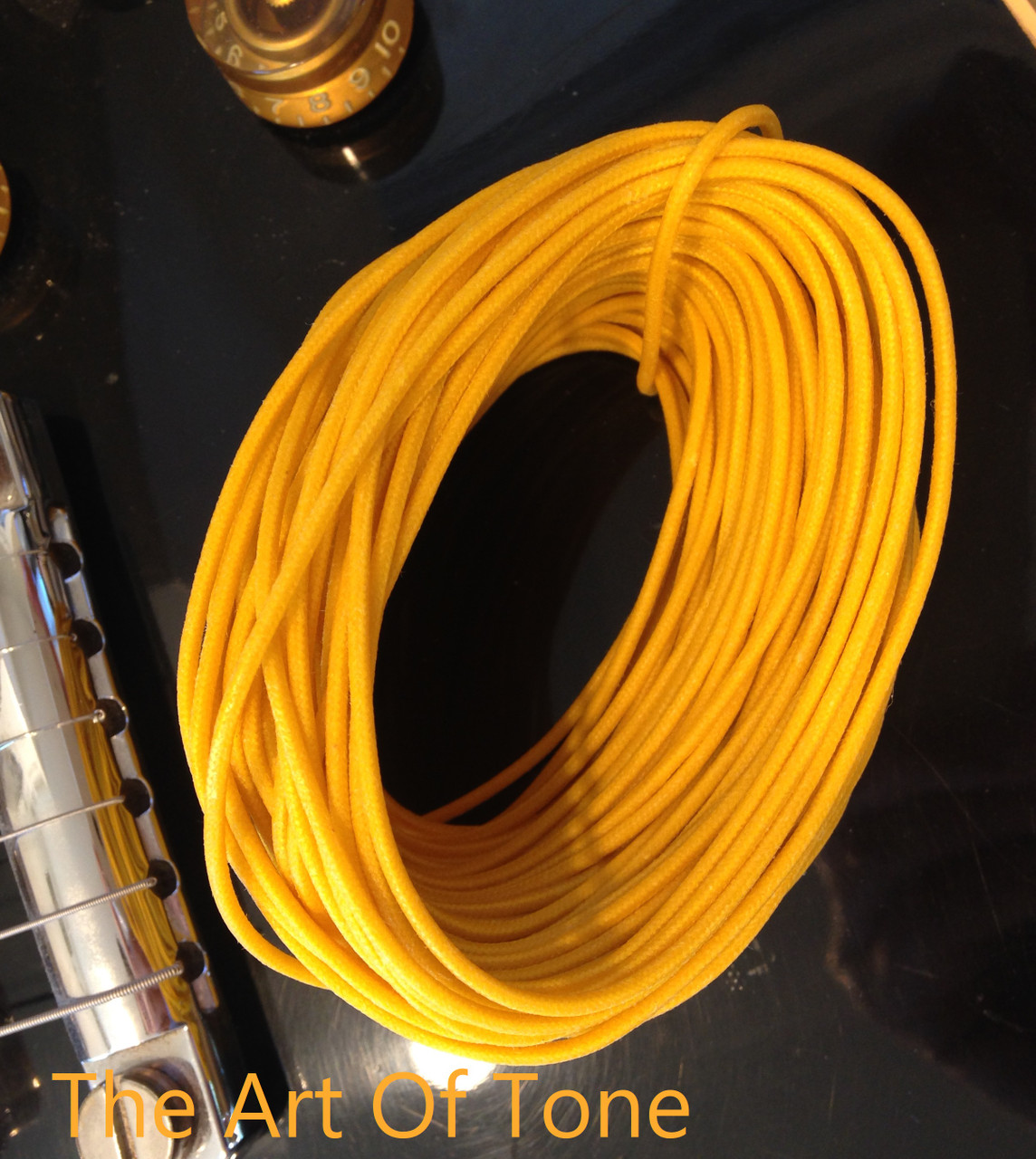 Gavitt Vintage-style Push back Cloth Wire - 22AWG 7-strand tinned Guitar Hook up Wire The Art Of Tone TAOT