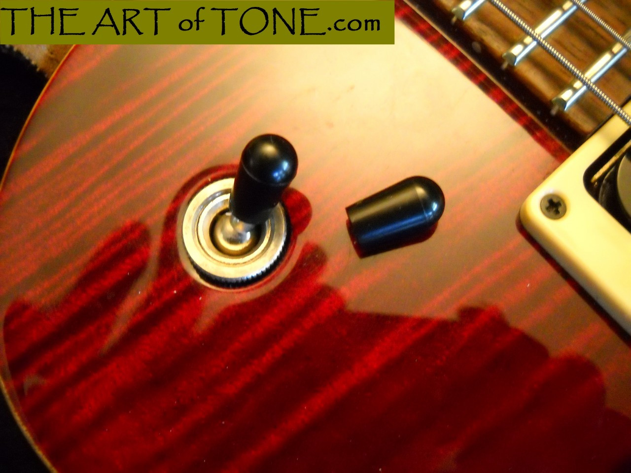 Les Paul /& Epiphone Guitars Pair of Black Toggle Switch Tips for Gibson