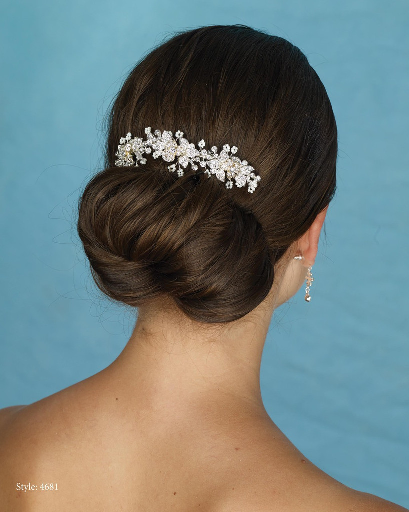 Marionat Bridal 4681 Silver and Gold Rhinestone Comb - Le Crystal Collection