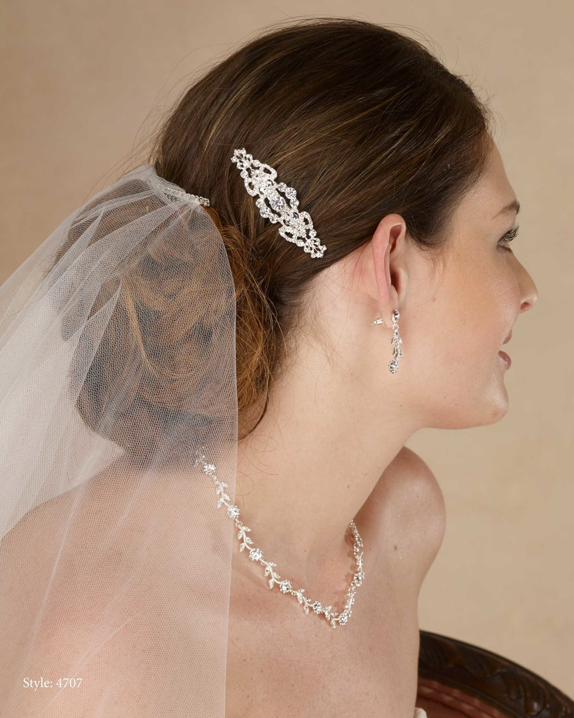 Marionat Bridal 4707 Rhinestone barrette - Le Crystal Collection