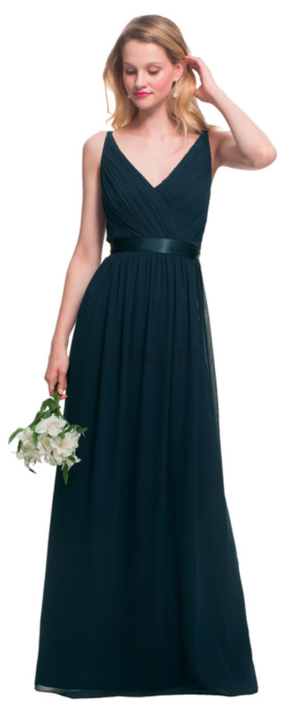 #LEVKOFF - Bill Levkoff Bridesmaid Dress Style 7026 - Charmeuse & Chiffon