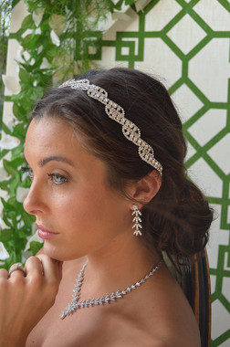 Ansonia Bridal 8668 - Rhinestone Belt Headband