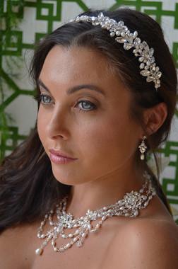 Ansonia Bridal 8670 - Rhinestone Pearl Headband
