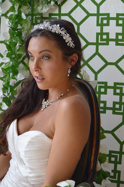 Ansonia Bridal 8675 - Rhinestone & Beaded Headband