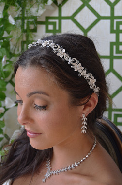 Ansonia Bridal 8677 - Crystal Silver Headpiece