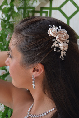 Ansonia Bridal 8679 - Flower Bridal Hair Comb