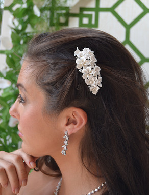 Ansonia Bridal 8682 - Pearl Flower Bridal Hair Comb