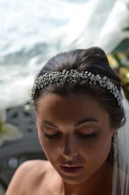 Elena Designs E815 -  Rhinestone Spray Headband