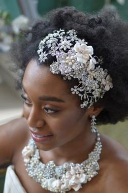 Elena Designs E814 - Rhinestone Flower Head Wrap