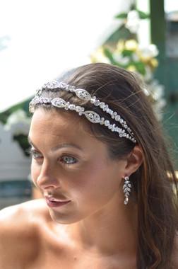 Elena Designs E817 - Two Row Rhinestone Headband