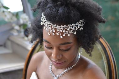 Elena Designs E819 - Rhinestone Spray Headband