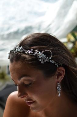 Elena Designs E820 - Rhinestone & Opal Headband
