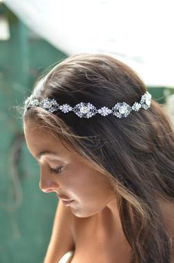 Elena Designs E821 - Rhinestone Headpiece