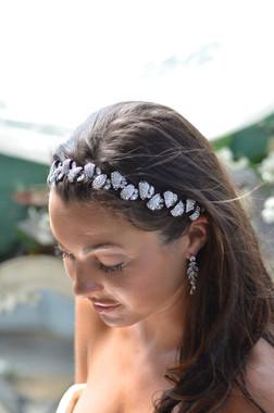 Elena Designs E823 - Rhinestone Pebble Elastic Headband