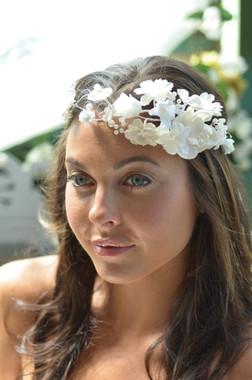 Elena Designs E826 - Flower & Pearl Headband