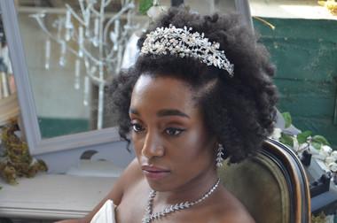 Elena Designs E827 - Rhinestone & Pearl Headband