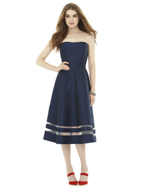 Alfred Sung Bridesmaids Style D712- Dupioni
