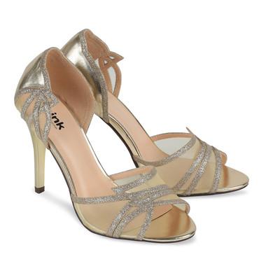 Lara Gold Shoe - Pink By Paradox Shoe