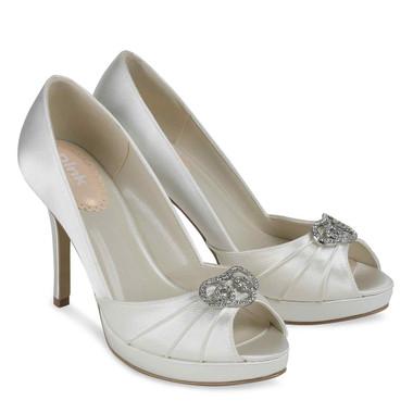 Lavish White Shoe - Pink By Paradox Shoe