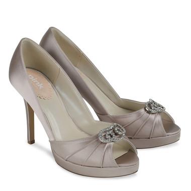 Lavish Taupe Shoe - Pink By Paradox Shoe