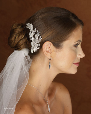 Marionat Bridal 4658 Rhinestone Clip- Le crystal