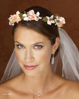 Marionat Bridal 4660 Blush/Color Floral Wreath- Le crystal