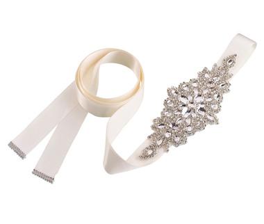 Lillian Rose Rhinestone Bridal Belt - Ivory  -BW250