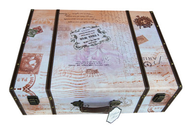 True Love Suitcase Card Box - Dark Brown
