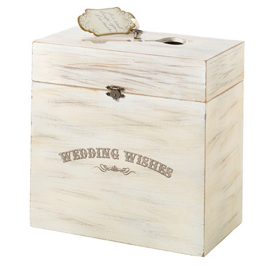 Wooden Key Card Box-Wedding Wishes
