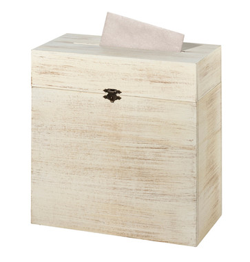 Rustic Wooden Card Box - No Personalization