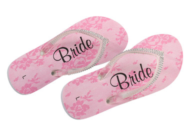 Rhinestone Bride Flip Flops