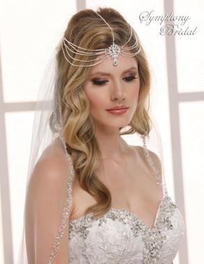Symphony Bridal V-Band Hair Wrap - HW514