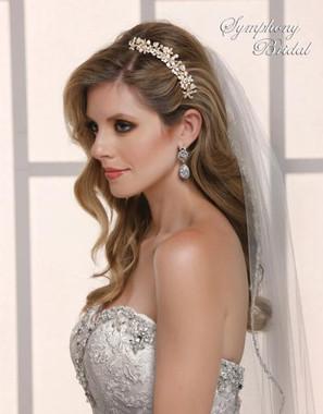 Gold Symphony Bridal Hair Comb - CB1706