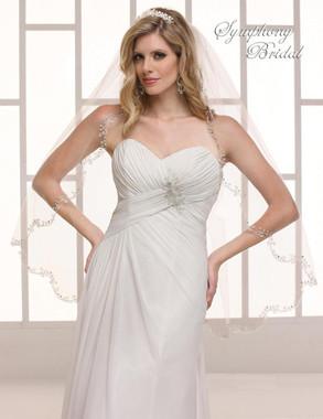 Symphony Bridal Wedding Veil - 6702VL - Embroidered Edge