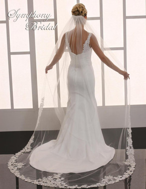 Symphony Bridal Cathedral Lace Wedding Veil - 6751VL