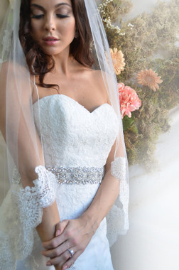 Ansonia Bridal Veil Style 728 - Lace Edge Veil