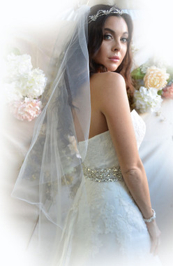Ansonia Bridal Veil Style 725 - Fingertip Cut Edge Veil