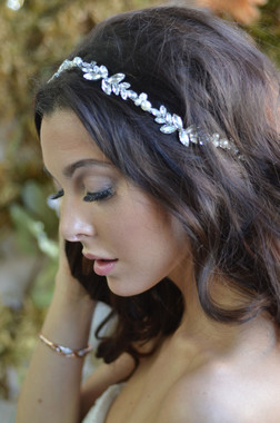 Ansonia Headpiece 8714 - Marquise and Pearl Headband
