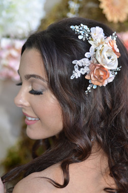 Ansonia Headpiece 8710 -Floral Hair Clip