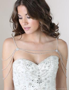 Bel Aire Bridal SH206 - Rhinestone strand shoulder jewelry