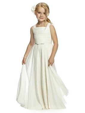 Dessy Flower Girl Dress FL4048-Lux chiffon dress