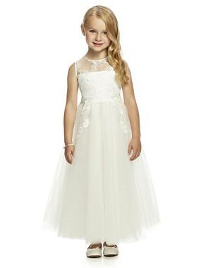 Dessy Flower Girl Dress FL4051 -  Fleur Embroidery