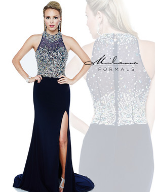 Milano Formals E1872 - Heavy Beaded