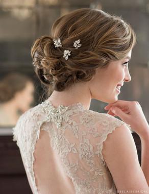 Bel Aire Bridal Hair Pins 1722 - Rhinestone and pearl hairpins