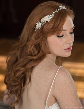Bel Aire Bridal Hair Clip 6657 Delicate rhinestone garland
