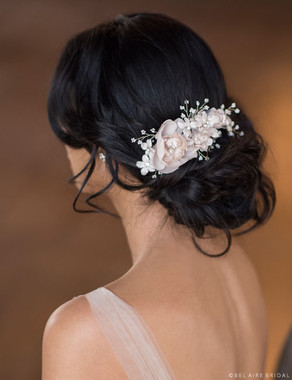 Bel Aire Bridal 6660 - Flower Comb with Pearls