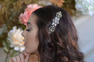 Ansonia Headpiece 8702 - Rhinestone Comb