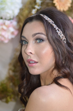 Ansonia Bridal Headpiece 8694 - Knotted Headband with Ribbon Ties